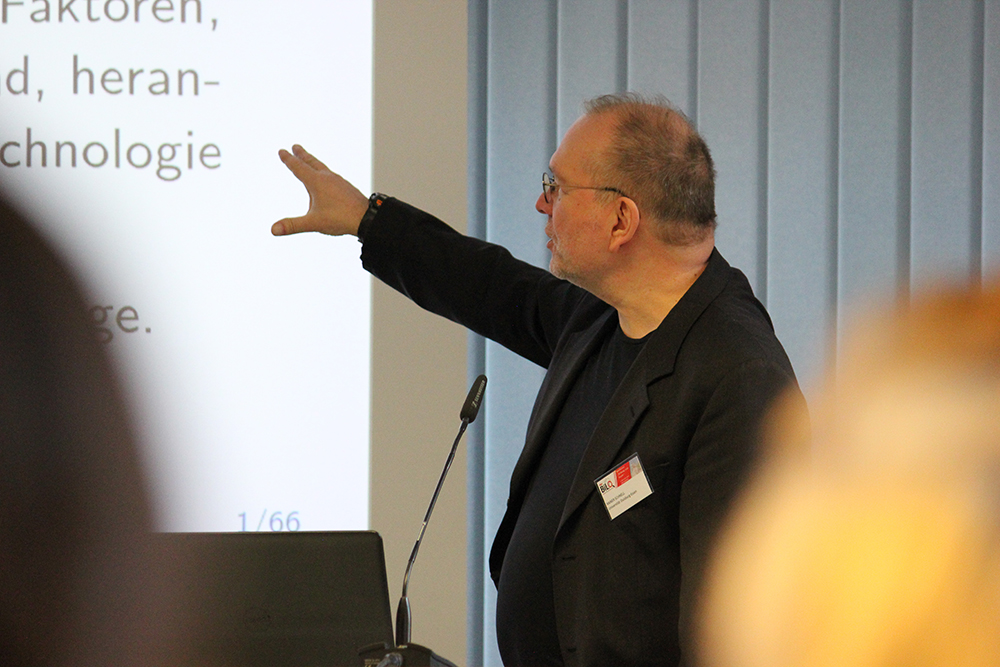 "Prof. Dr. Rainer Schnell gave the keynote lecture at the conference ""Education and Space""."