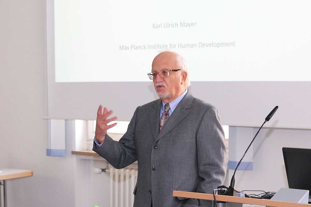 In his lecture, Karl Ulrich Mayer explained the great potential of NEPS data.
