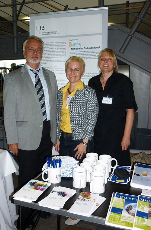 From left to right: Manfred Egner, Dr. Jutta von Maurice, Dr. Michaela Sixt.